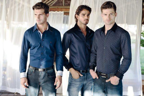 Приталенная мужская рубашка 1