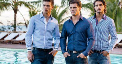 Приталенная мужская рубашка 4