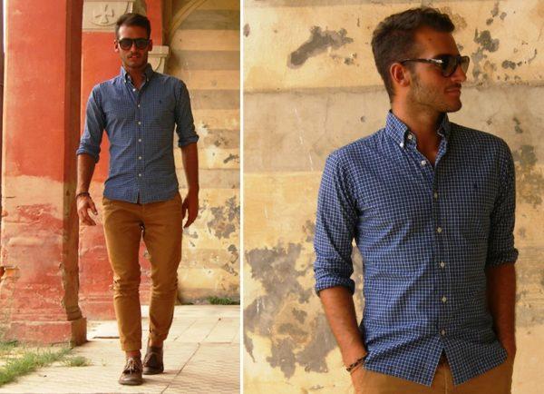 Приталенная мужская рубашка 3