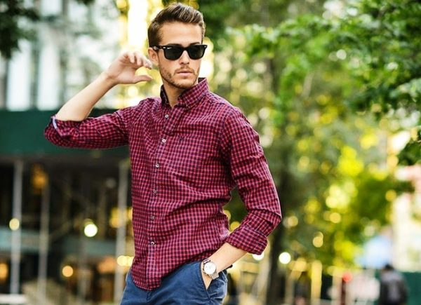 Стильный принт мужской рубашки 2