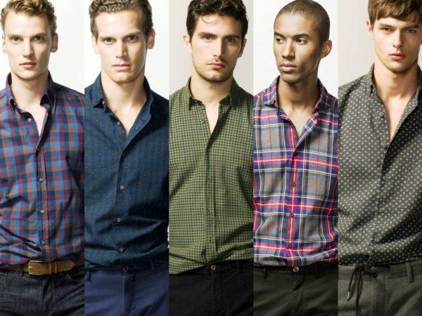 Стильный принт мужской рубашки 1