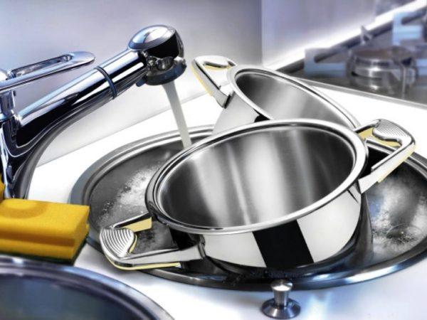 Как отмыть посуду в домашних условиях 1