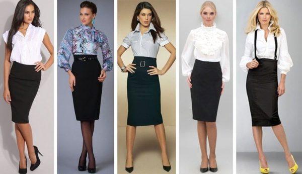 Классическая юбка-карандаш незаменима в деловом стиле одежды для женщин
