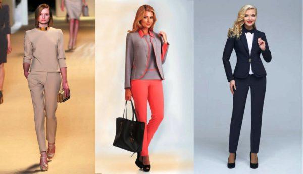 Такие брюки обязательно входят в современный деловой женский гардероб