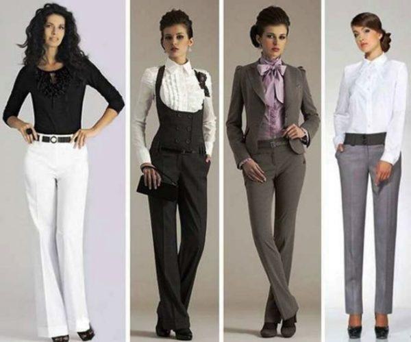 Брюки в деловом стиле одежды для женщин