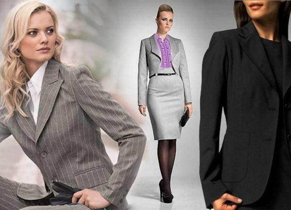 Костюмы - основная деталь делового стиля одежды для женщин