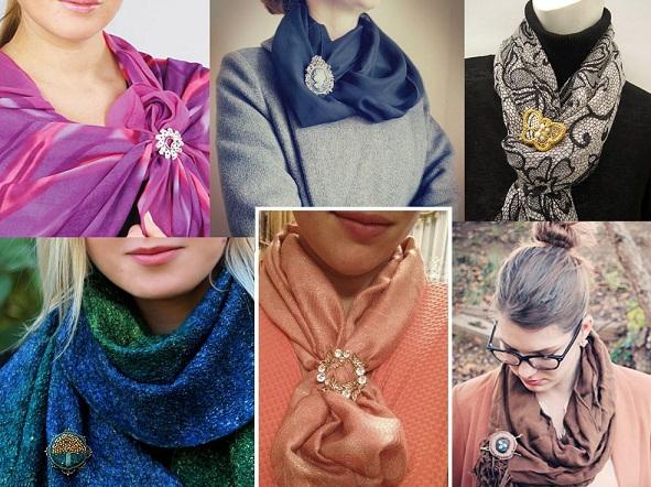 Как красиво завязать шарф или платок на шее