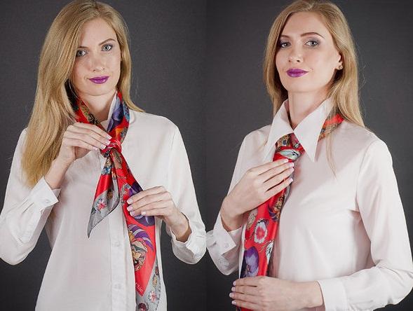 как завязать платок в галстук
