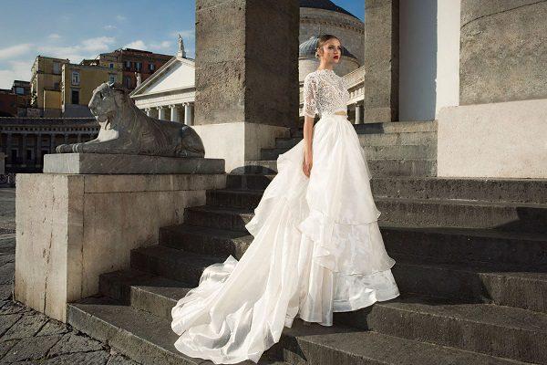 свадебные платья с двухуровневой юбкой