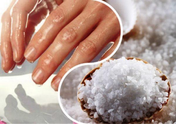 Укрепляющая ванночка для ногтей с морской солью