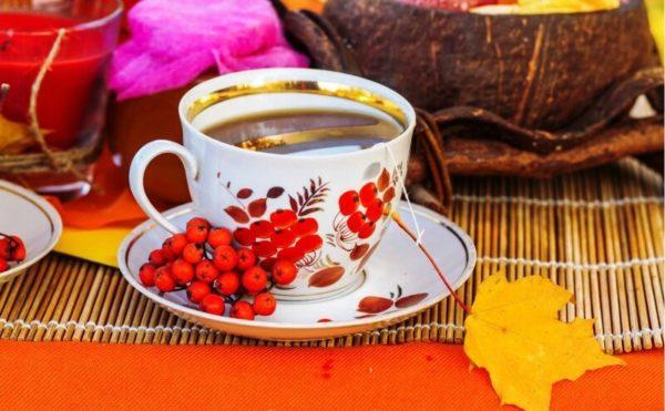 Витаминный чай с рябиной