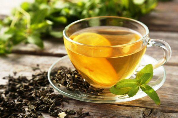 Очень полезен будет зеленый чай