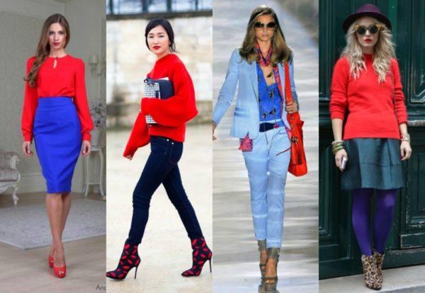 Сочетание синего цвета  в одежде идет женщинам любого возраста