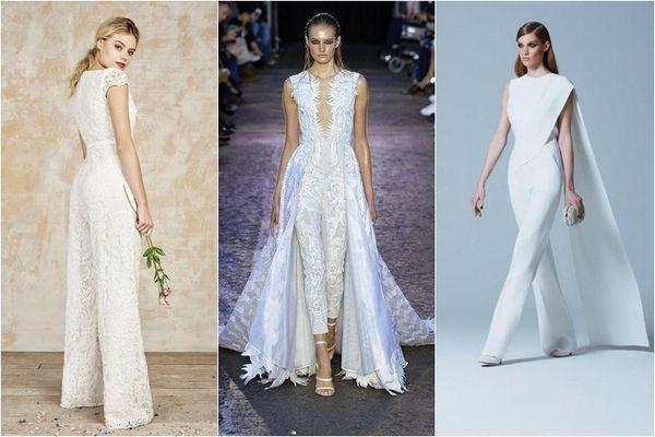 брючные свадебные костюмы для невесты