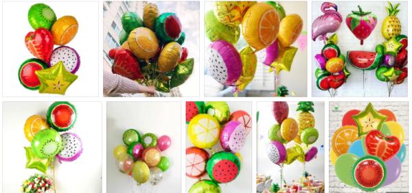 воздушные шары – фрукты