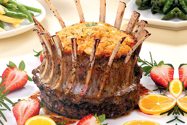Блюда для праздничного стола в форме короны