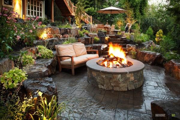 Как обустроить сад в загородном доме