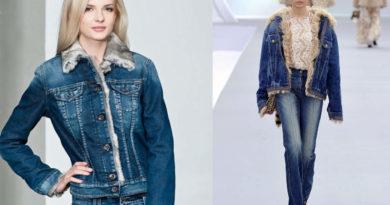 Джинсовая куртка женская утеплённая