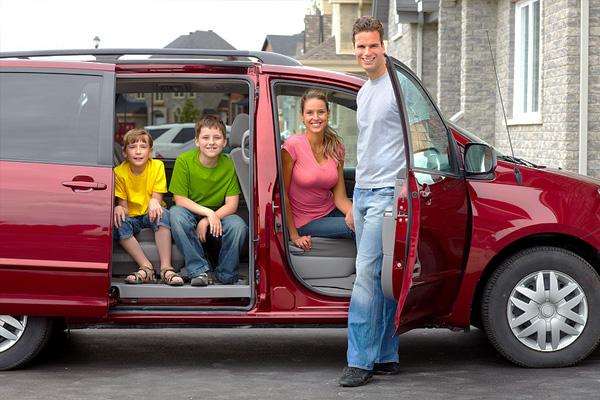 Такси минивэн для всей семьи